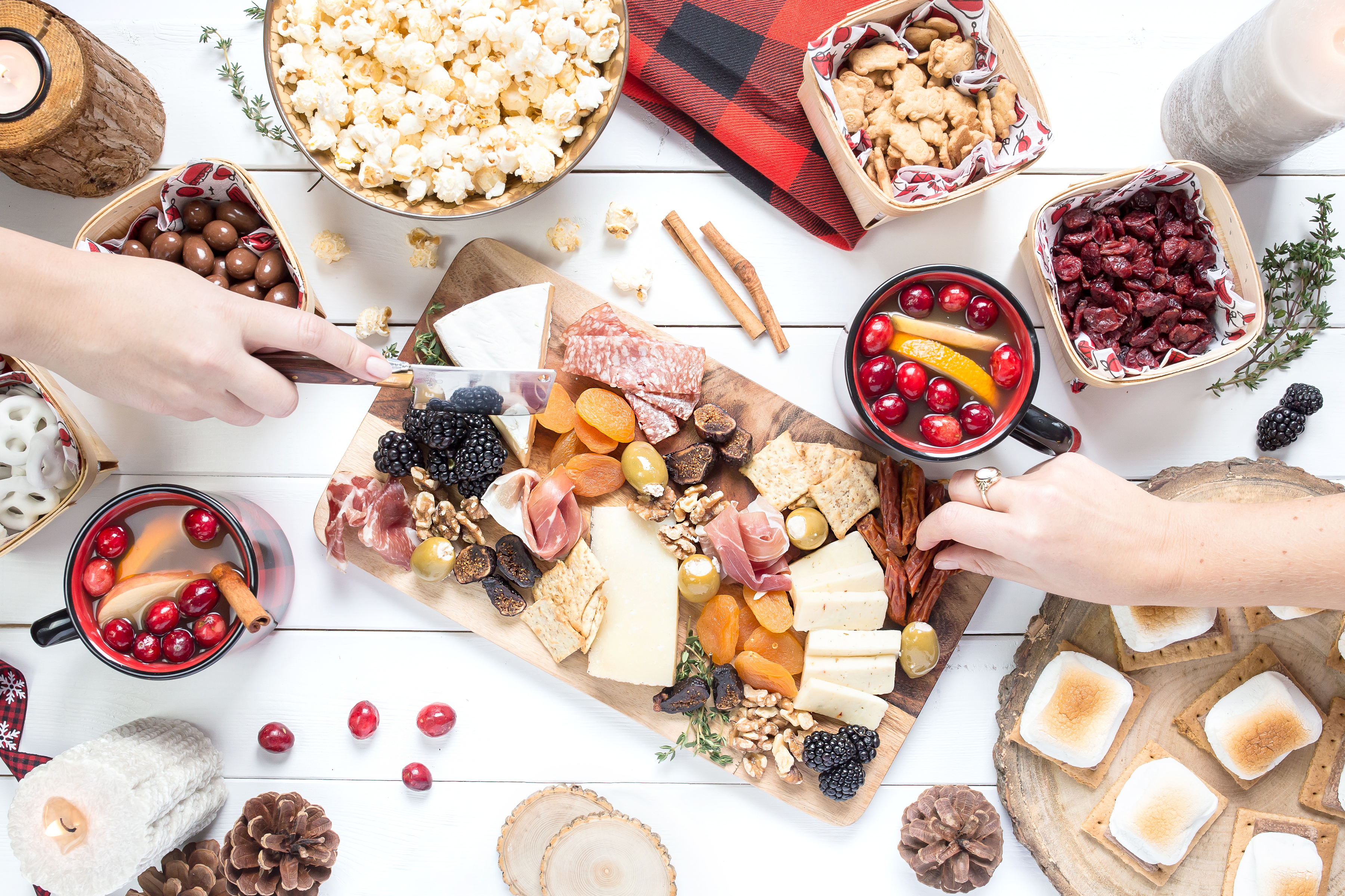 Hygge moments are the small everyday moments that make you happy, like sharing food with friends