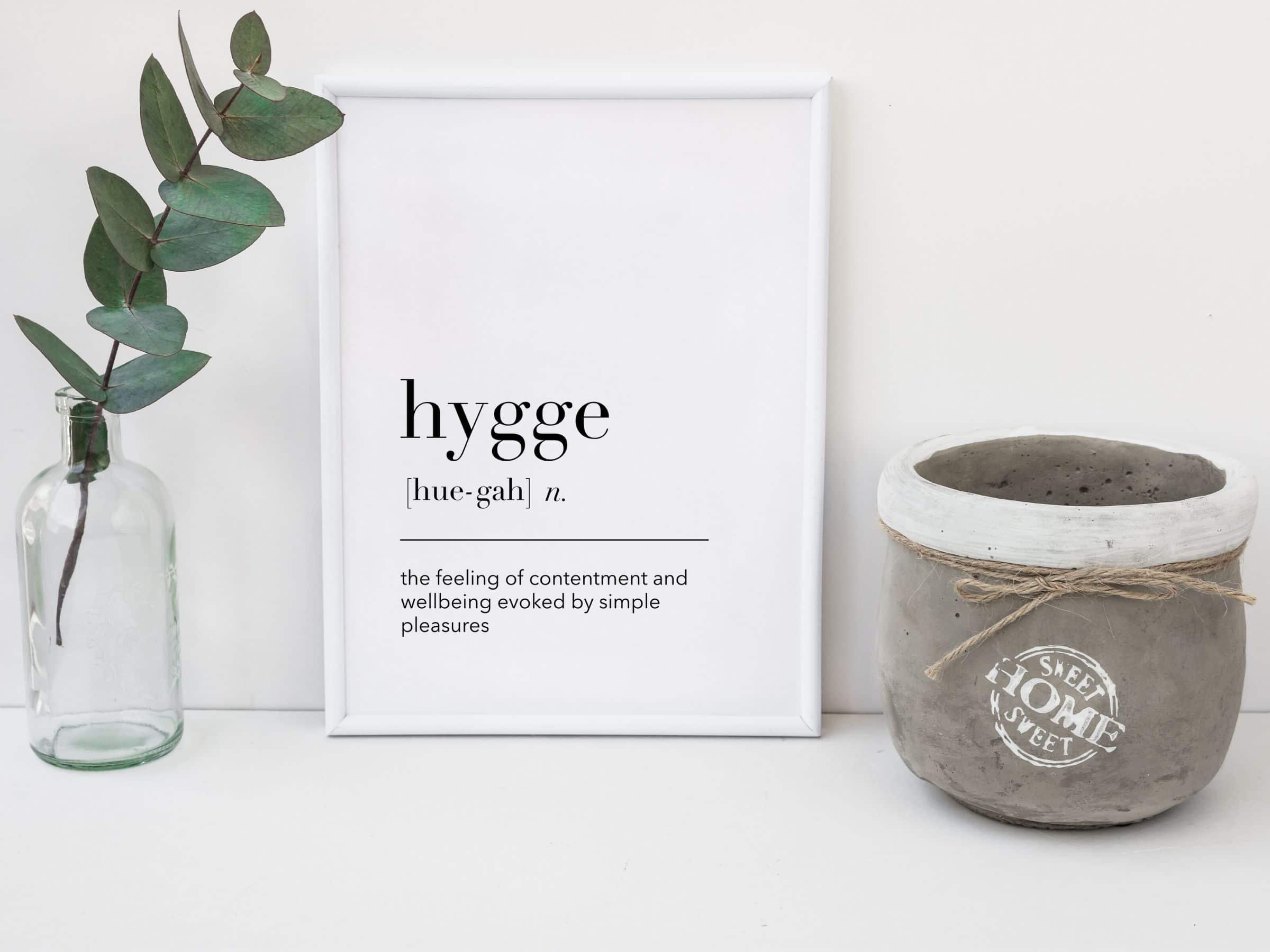 free hygge definition print