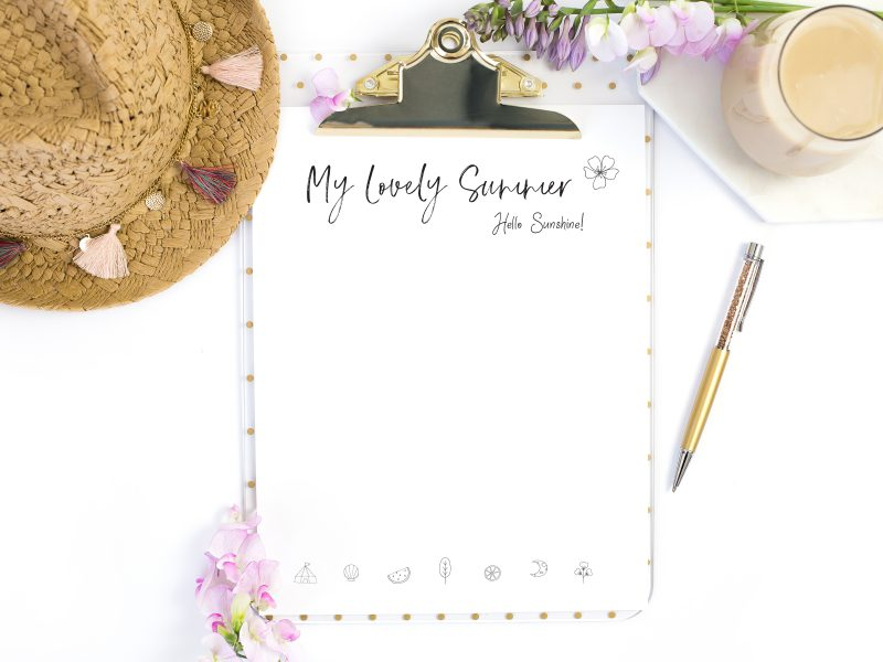 Design a lovely summer with these bucket list ideas