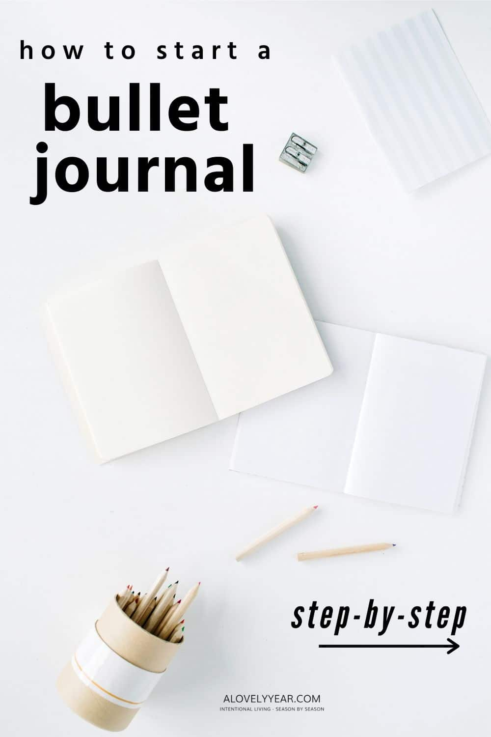blank journals on a desk