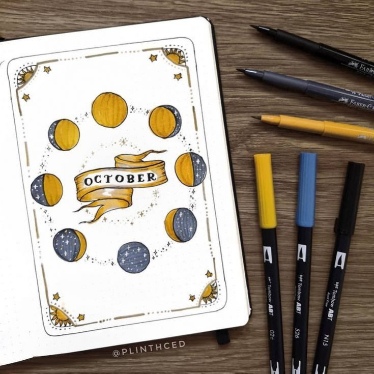 Bullet journal October theme page by @notebook_therapy