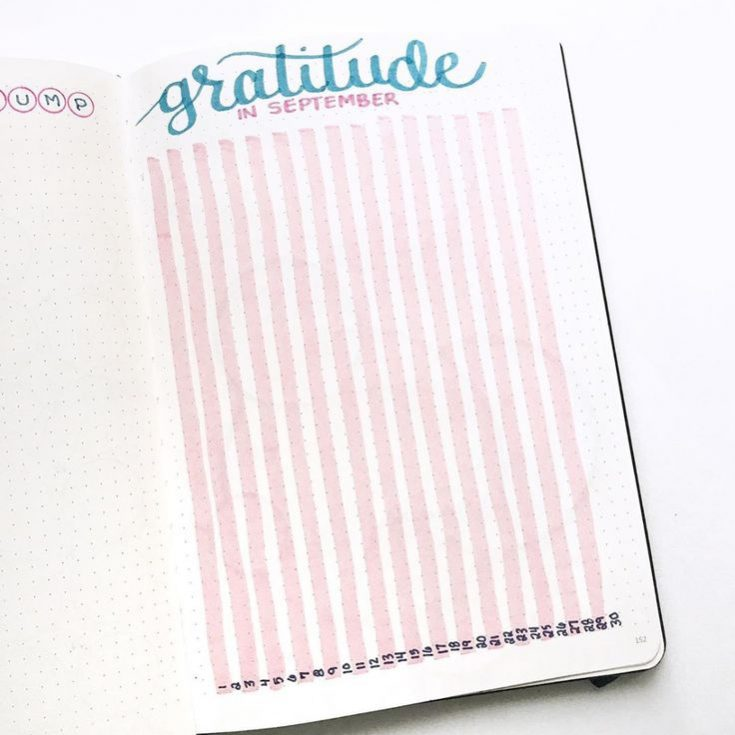 1. Gratitude log by @quietcollections