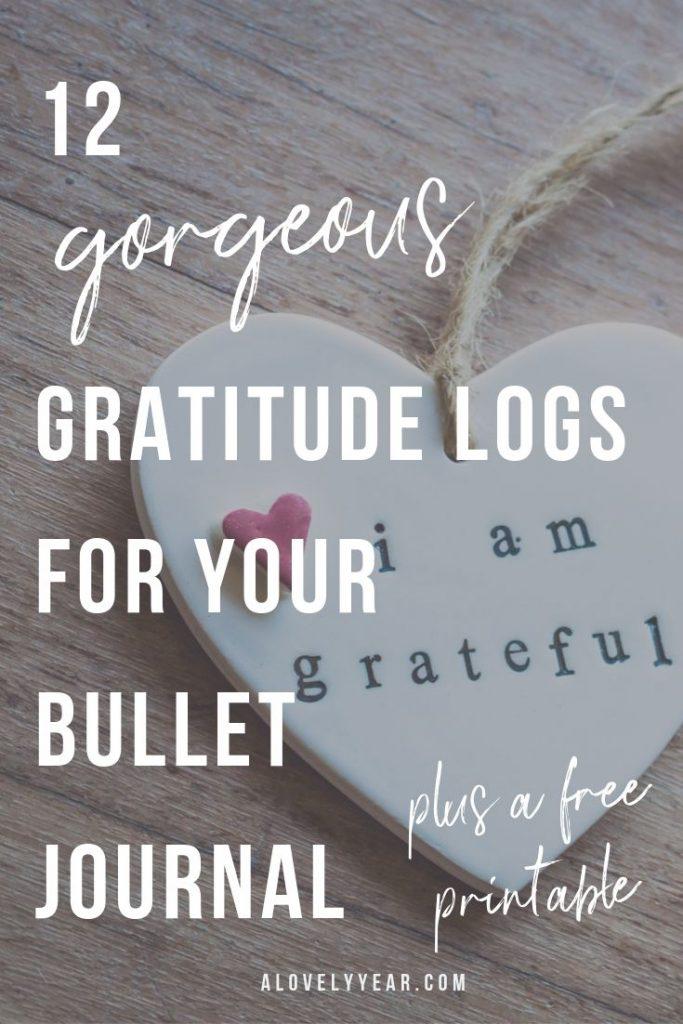 Bullet journal gratitude log ideas