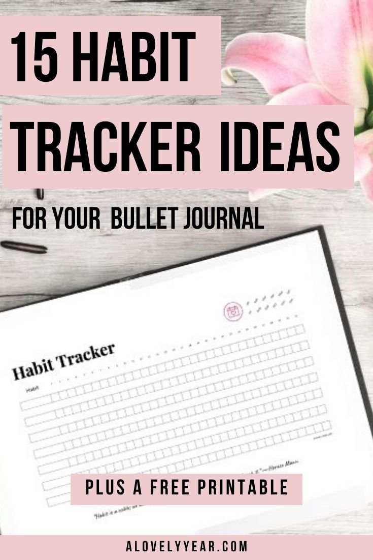 15 habit tracker ideas