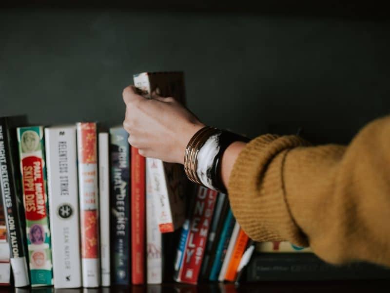 bookshelf image by Photo by Christin Hume on Unsplash