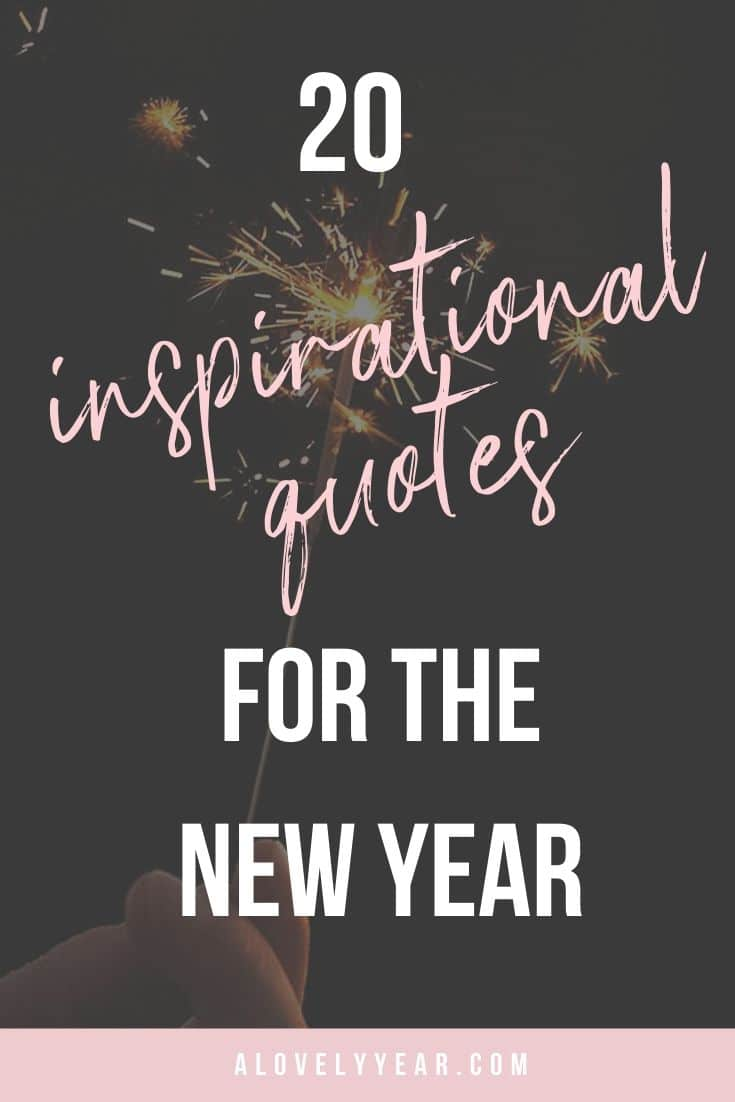20 inspirational quotes for the new year