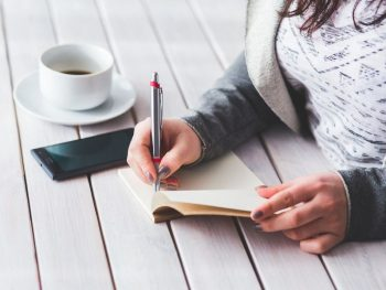 live intentionally by writing in journal