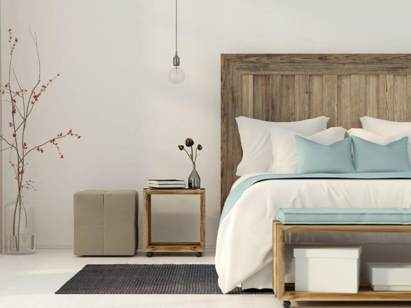 sleep better in a clutter free bedroom