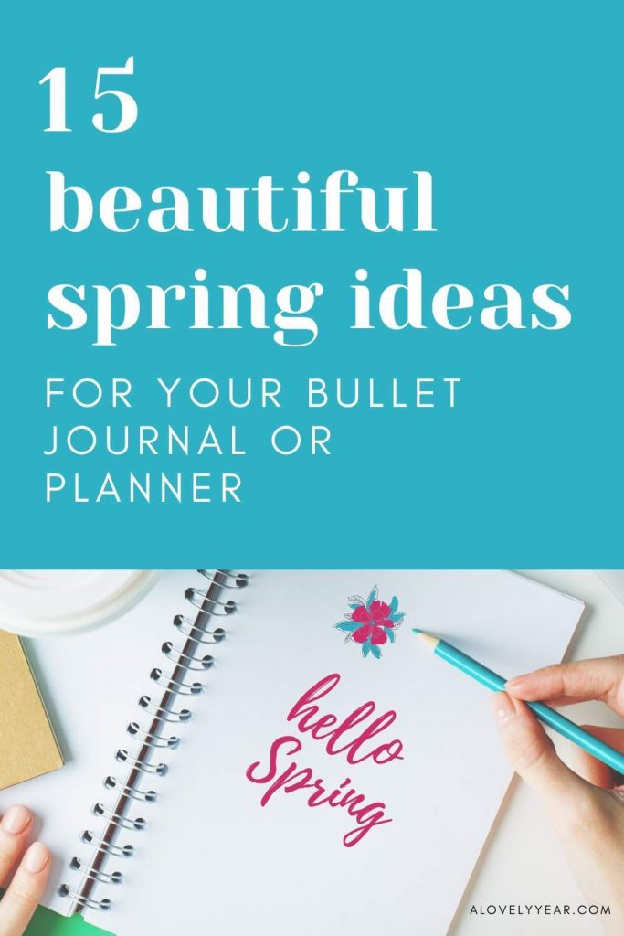 spring bullet journal ideas