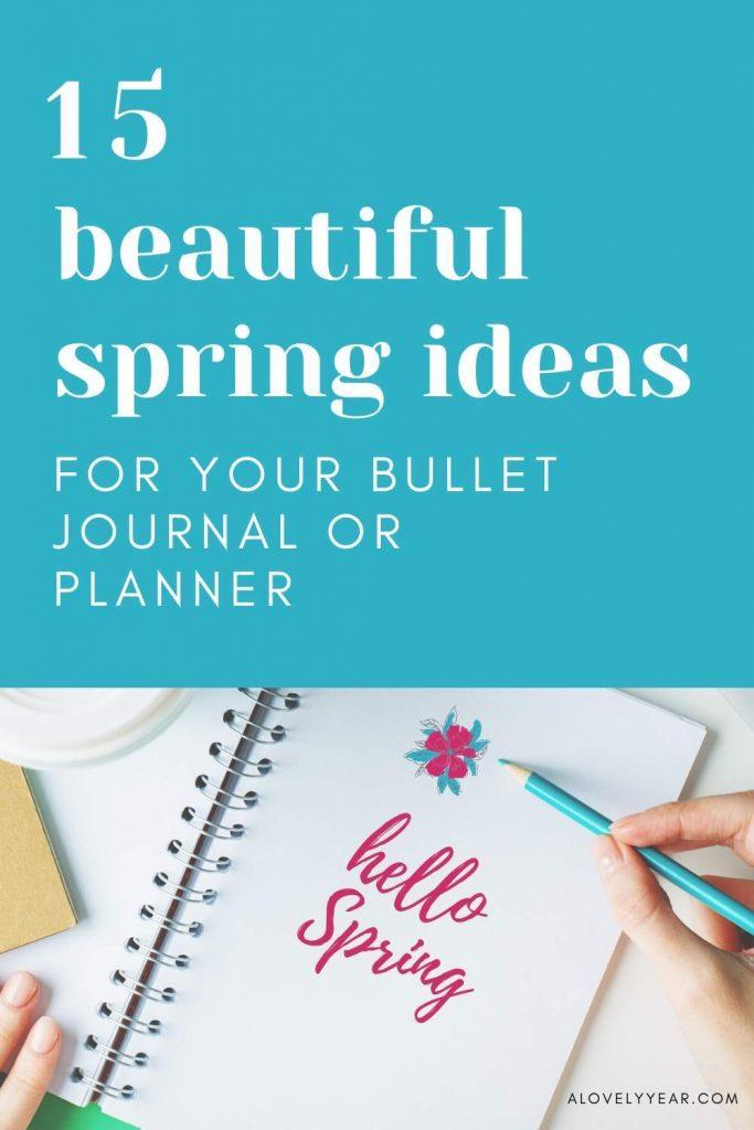spring bullet journal ideas