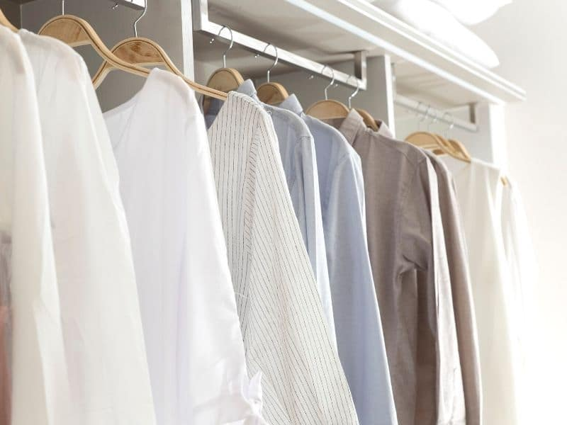 get dressed as part of morning routine