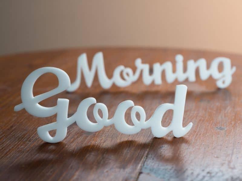 good morning sign