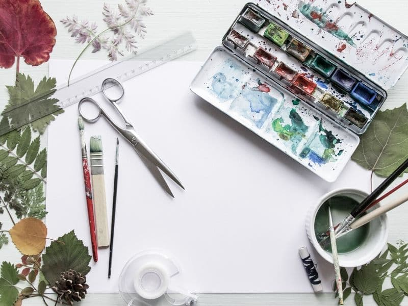 self-care activities at home - get creative