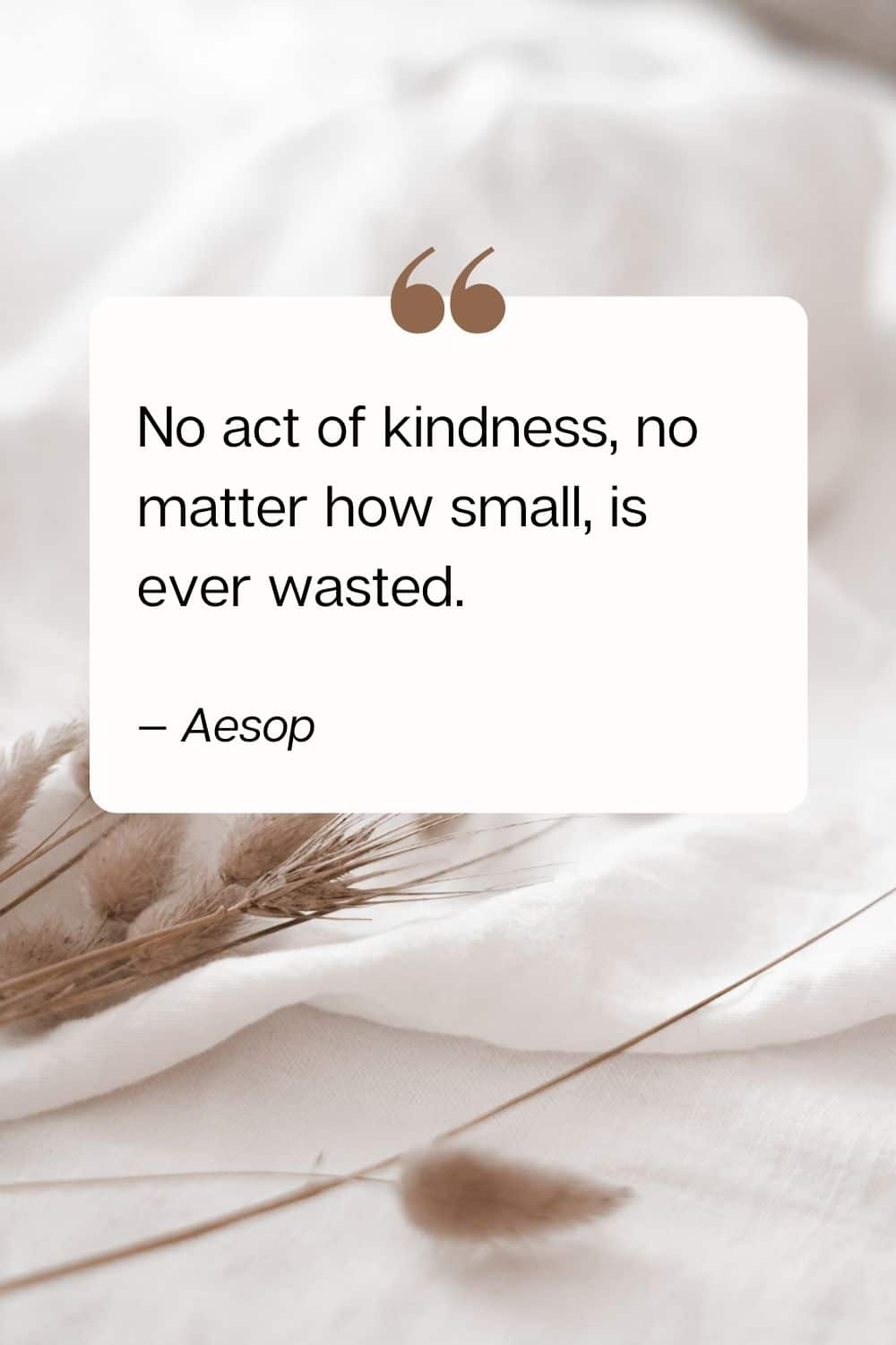 quote - No act of kindness, no matter how small, is ever wasted. — Aesop