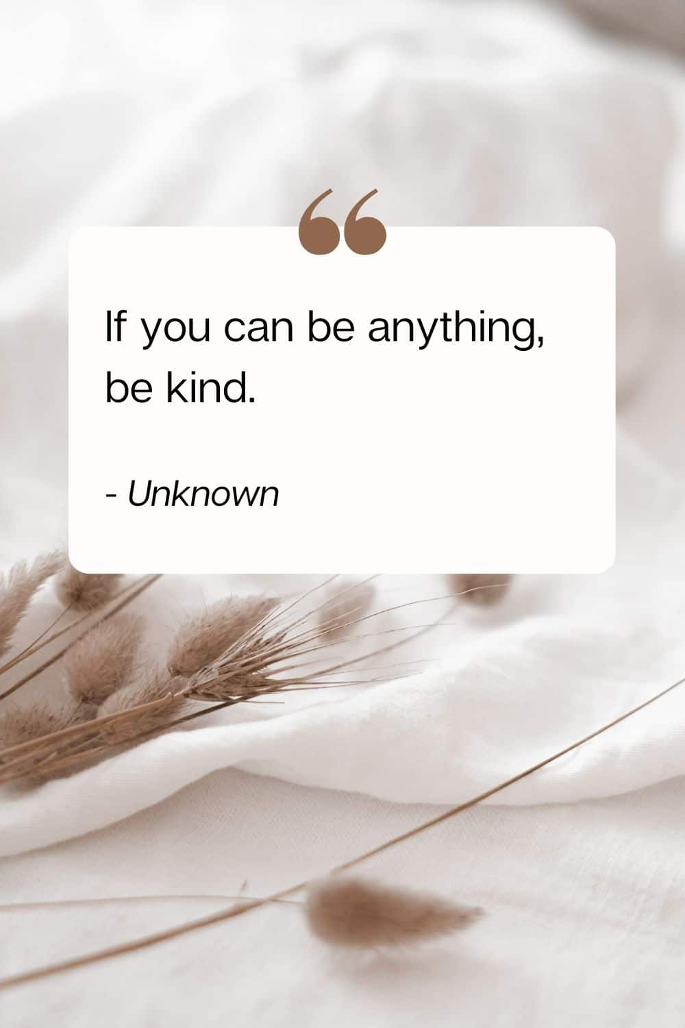 quote - If you can be anything, be kind. - Unknown