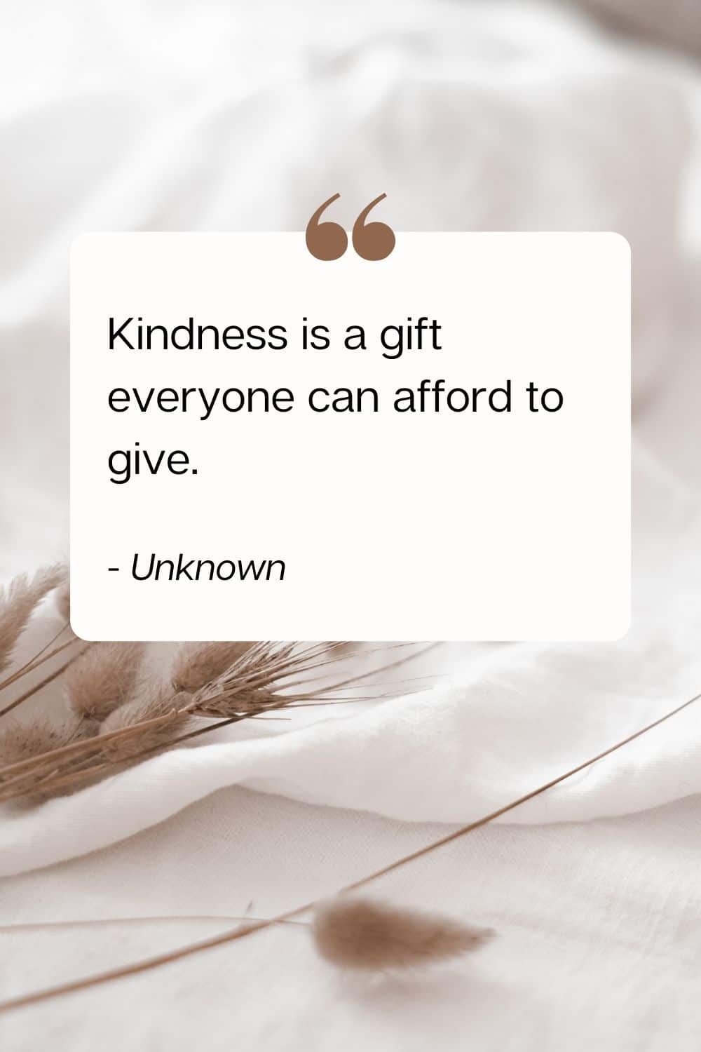 quote - Kindness is a gift everyone can afford to give. - Unknown